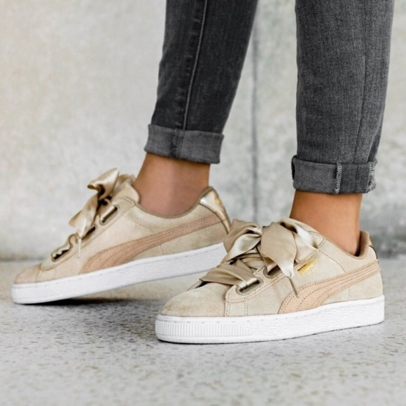 b23579e3a Puma Basket Suede Heart Safari Ribbon Sneakers. M_5c555fca5c4452193a124539